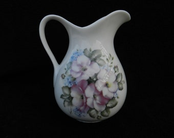 Pitcher: Hand decorated water pitcher