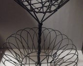 Vintage, wire 2 tier basket tall, beautiful, great for any collection