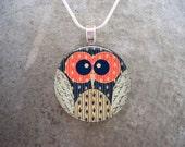 Owl Jewelry - Glass Pendant Necklace - Owl 1