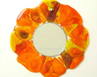Fused Decorative Art Glass Mirror