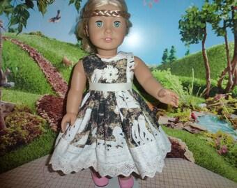 "18"" Doll Dress Fits American Girl, Madame Alexander and Gotz Dolls"