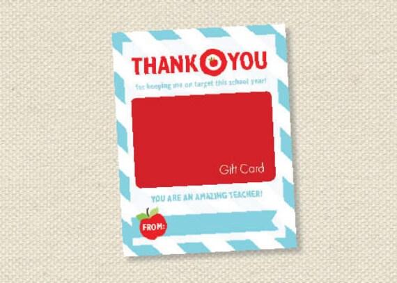 teacher appreciation gift card holder - On Target - INSTANT DOWNLOAD