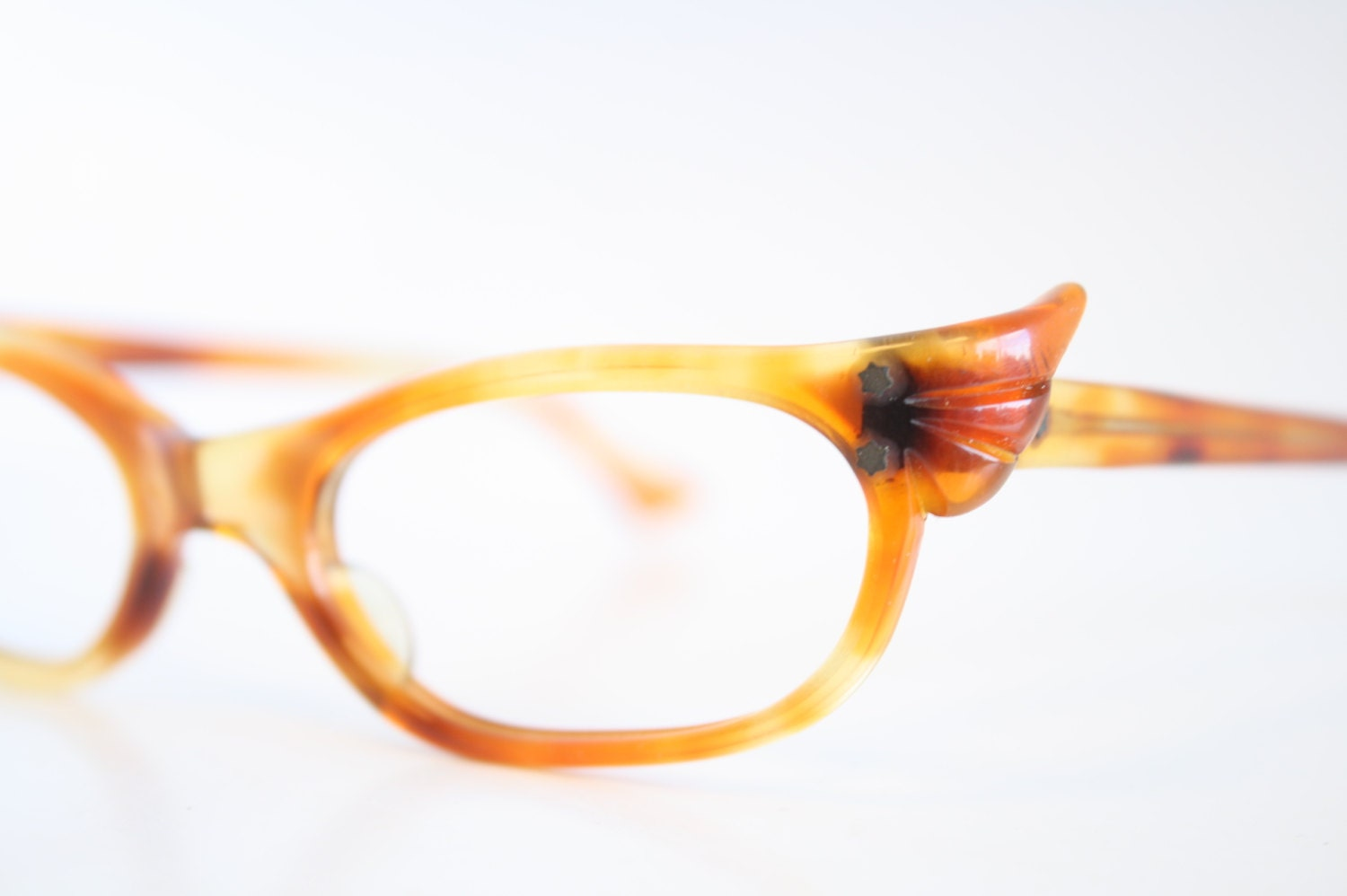 unique tortoise cat eye eyeglasses vintage eyewear by