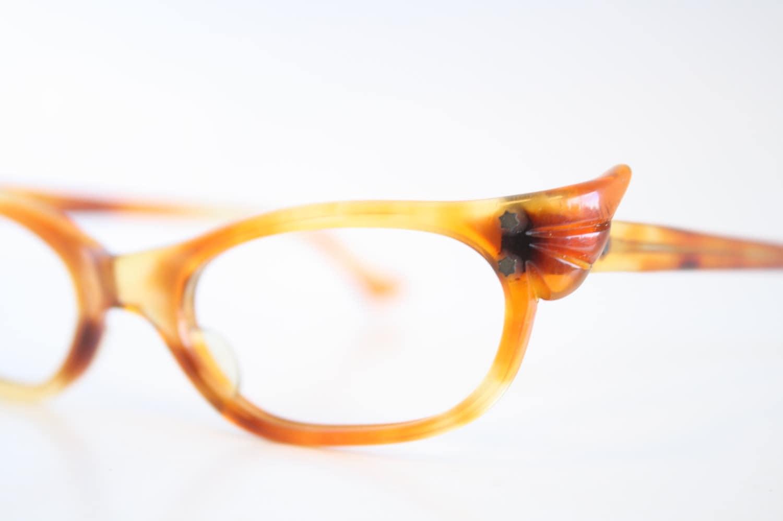 Unusual Designer Eyeglass Frames : Unique tortoise Cat Eye Eyeglasses Vintage Eyewear by ...