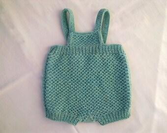 Knitted baby shorts light blue pants children boy girl toddler 6-9 months