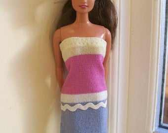 Barbie clothes - upcycled asymmetric dress