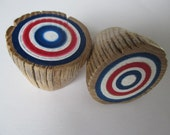 Red White Blue KNOB PULLS - Hand Painted Americana - Made from Reclaimed  Barn Ladder Rungs - Set of 2 (2KPCPKRWB)