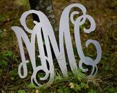 Aluminum Monogram Letters Vine Font, Custom wall hanging Monogram, Personalized Monogram sign, Aluminum monogram Signage
