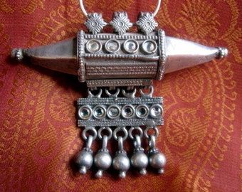 Awesome Tribal Pendant. India Tribal Silver Pendant.
