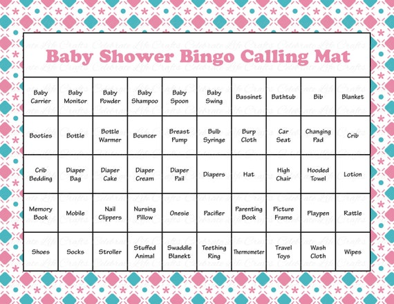 Eloquent image inside free printable baby shower bingo cards for 30 people