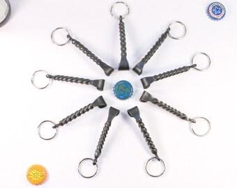 Groomsmen Gift -- set of 9 Keychain Beer bottle openers-- Personalized Groomsmen Gift Ideas