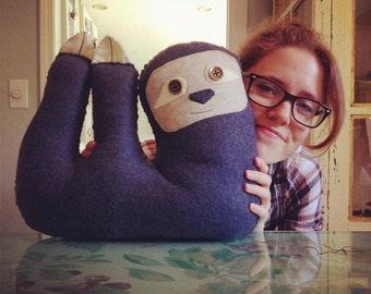 Fleece Sloth Pillow