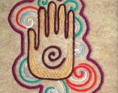 """Patch Embroidered Hamsa Hand 4 3/4"""""""