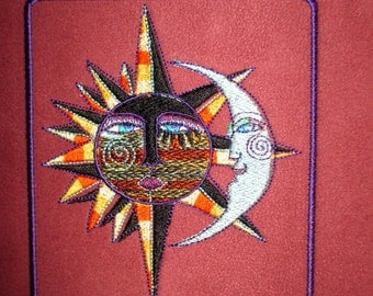 """Patch Suede Embroidered Fantasy Sun Moon 5"""""""