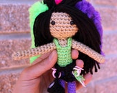 PATTERN Instant Download Kara the Climber Crochet Amigurumi Doll with Rock