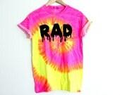Neon pink yellow RAD shirt SALE