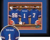 PERSONALIZED & FRAMED Officially Licensed Florida Gators Football Sports Print
