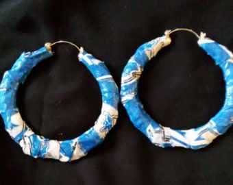 Clearance!! Detroit lions bamboo hoops