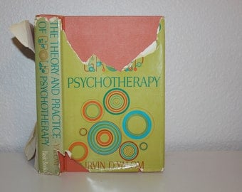 The Theory and Practice of Group Psychotherapy by Irvin D. Yalom 1970, Vintage Books, Psychology Books, Orange Books, Psychedelic Books