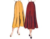 1940s Skirt Pattern Vogue 6369, 8 Gore Skirt, Flared Bell Shape, Easy to Make / Simple to Sew, Vintage Sewing Pattern, Waist 24 Hip 33
