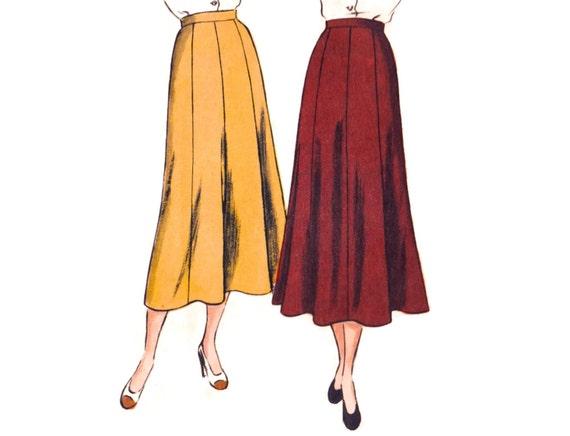 Gore Skirt Pattern 40