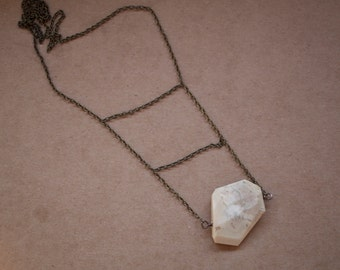 African Opal Stone Necklace