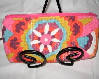 BOHO Cosmetic bag/ zipper pouch/ makeup bag