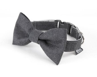 Dog Bow Tie - Smokey Grey