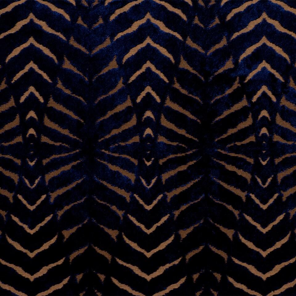 On sale blue cut velvet upholstery fabric modern animal for Upholstery fabric for sale