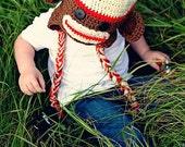 Brown monkey hat