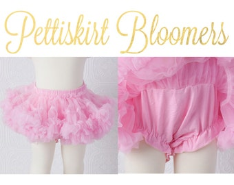 Pettiskirt Bloomer - Pink - all in one bloomers attached