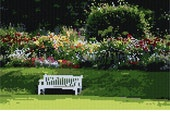 Garden Bench Needlepoint Kit by Pepita