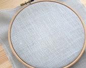 28 ct  Linen Cross Stitch Fabric - Cashel Linen - Confederate Gray (28 count)