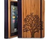 Oak Tree - Bamboo Wood iPad 2/3/4 Case, Wood iPad Case, iPad 2/3/4 Bookcase