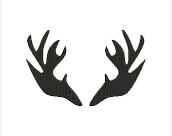 Deer Antlers Machine Embroidery Design 4x4 5x7 Bernina Brother Pfaff Husqvarna and More