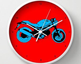 Ducati Monster WALL CLOCK for bikers | Ducati Monster | Original handmade drawing
