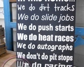 We Do Racing Hand Painted Wood Art Box Sign Sprints Midgets Winged