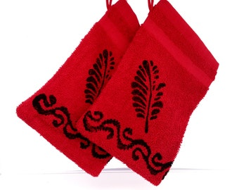 washing glove/red  washing glove/red  and black/Turkish bath/Turkish towel/towel store/freeshippingstore/anatolia/kese/handpressed