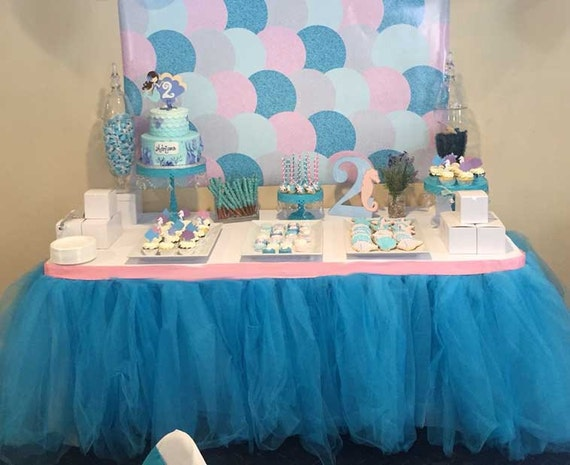 Cinderella Birthday Party Tulle Table Skirts Birthday Wikii