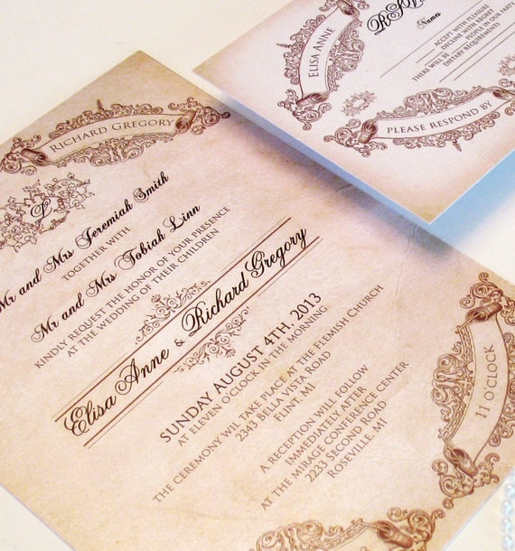 Fairytale Wedding Invitations Elegant Wedding Invitations