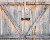 Fading Barn Doors - Vinyl Photography  Backdrop Photo Prop