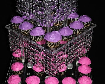 Wedding Cake Stand-Bling-cupcake build a tower