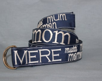 Women's Embroidered Belt for Mom