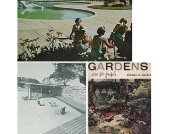 1955 1st ed GARDENS Are For PEOPLE Thomas Church mid century modern landscaping design book