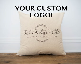 Custom Logo Pillow Cover