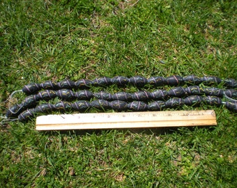 black glass beads from Africa