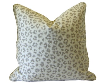 Custom Pillow Cover / Animal Print by Jaclyn Smith Home in Dove / Grey Cheetah Leopard / Both Sides / Made to Order