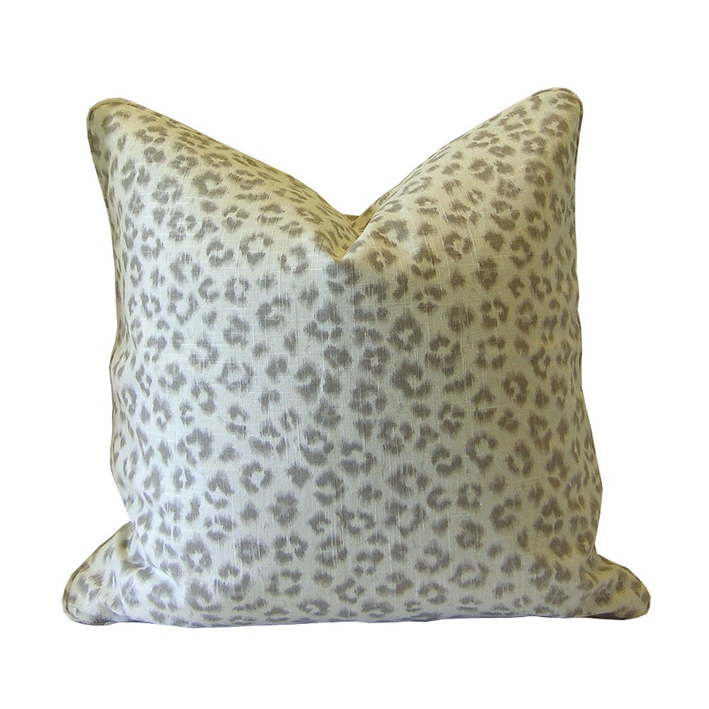 Animal Print Pillow Cover Dove Grey Pillow Cover Taupe