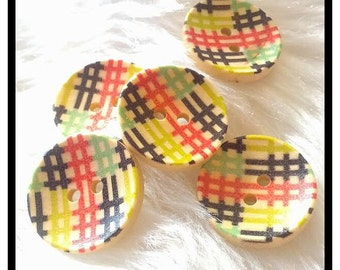 5 x 20mm retro concave buttons