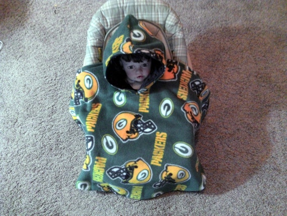nfl green bay packers sliponandgotm car seat hooded by lindasnd. Black Bedroom Furniture Sets. Home Design Ideas